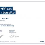 Certificat de réussite-Prenez en main Bootstrap