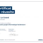 Certificat de réussite-Gérez votre projet informatique facilement