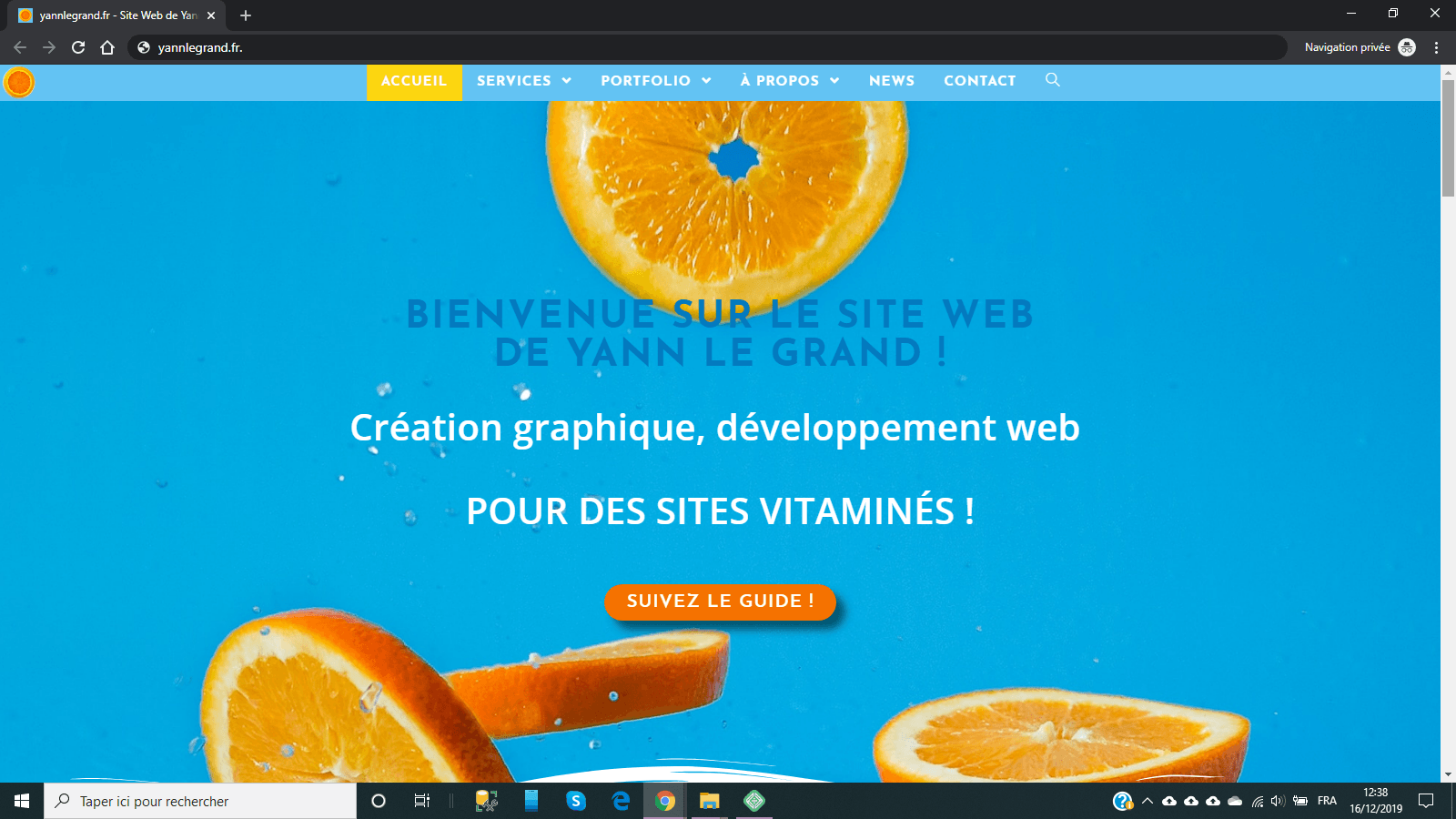 Site web de Yann Le Grand