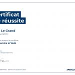 Certificat de réussite-Comprendre le Web