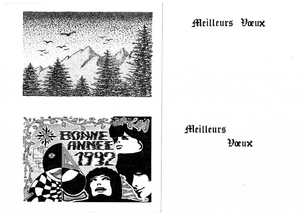 Cartes de voeux 1992-2