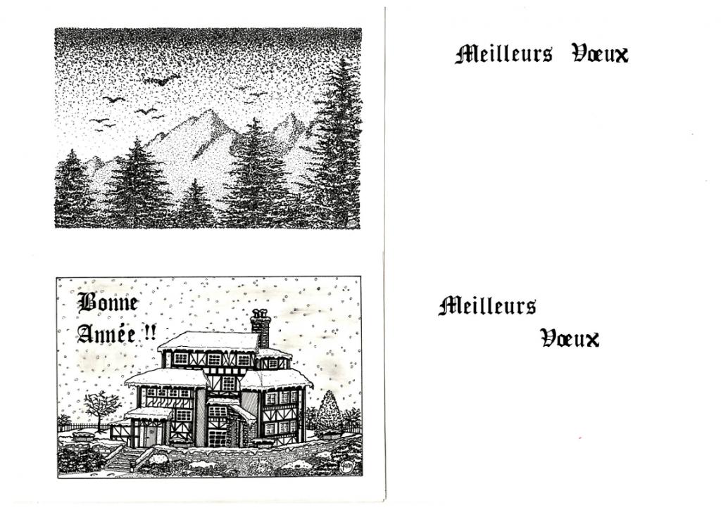Cartes de voeux 1992-3