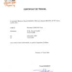 GROUPE ACTIF-Certificat de Travail