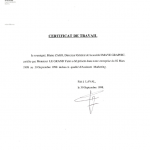 IMAYE Graphic-Certificat de Travail