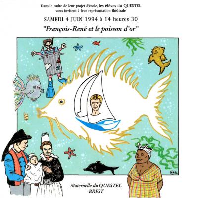 Plaquette François-René et le Poisson d'Or (Le Questel)